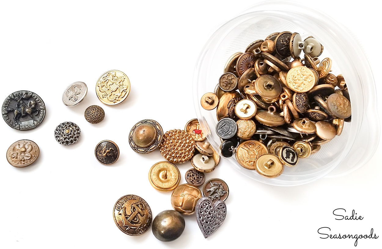 vintage metal buttons