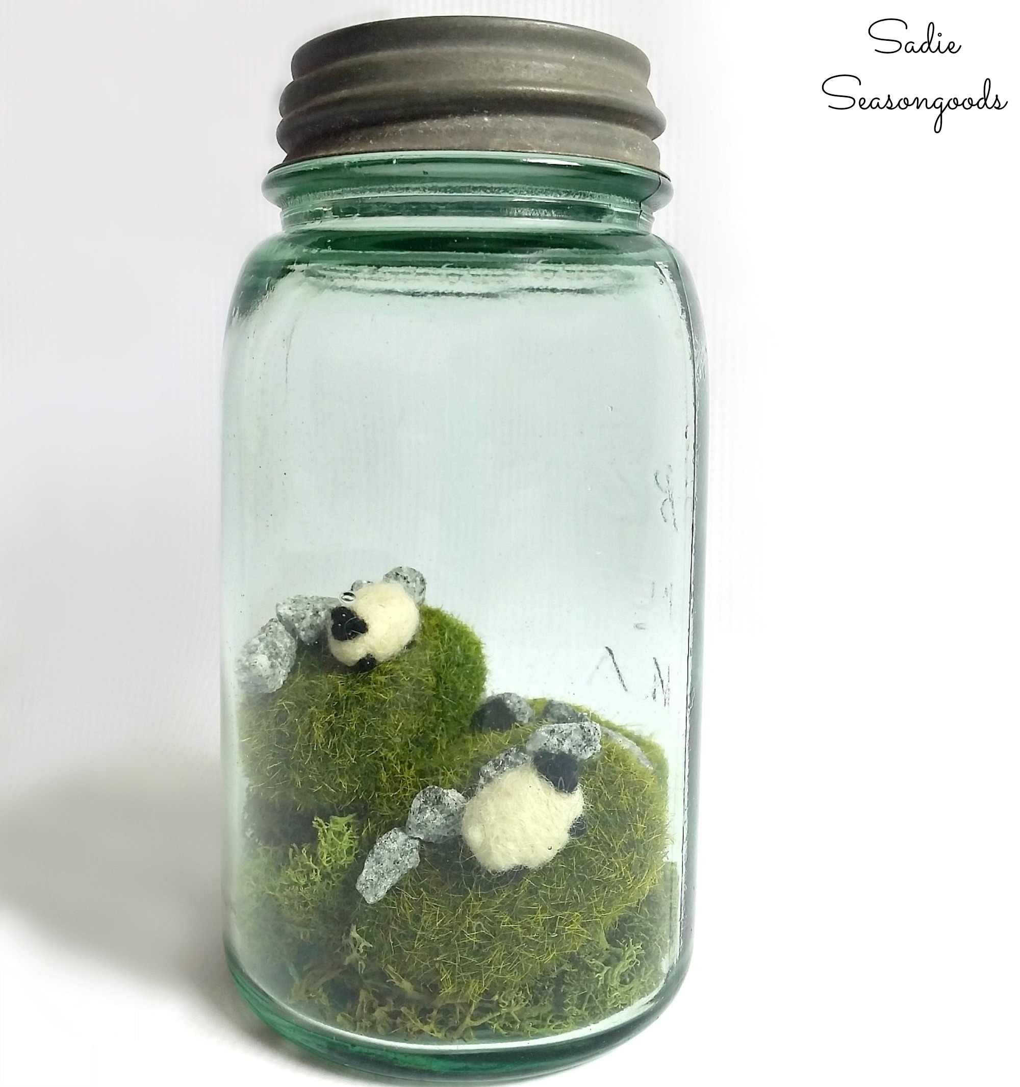 Irish Countryside in a Vintage Mason Jar for St. Patrick's Day