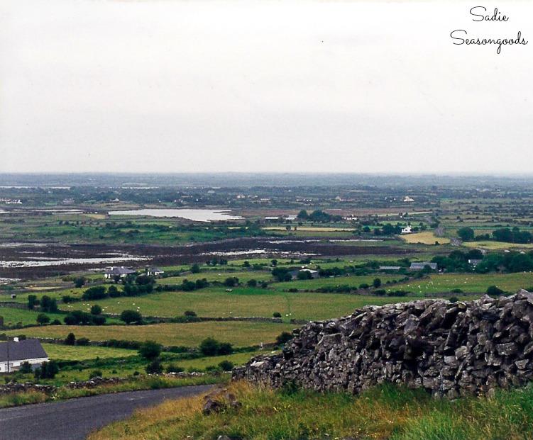 Irish countryside of The Burren in Ireland
