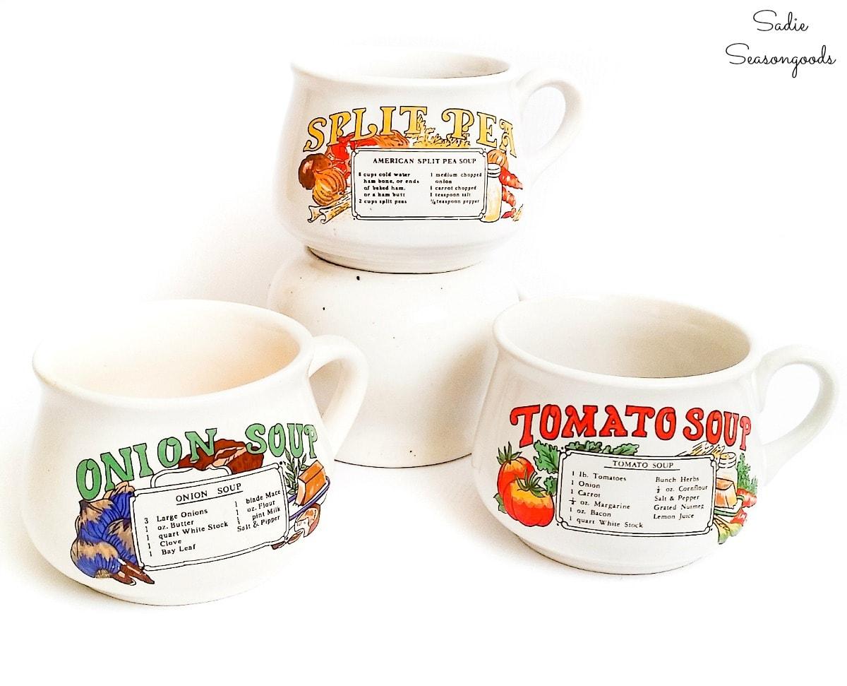 DIY teacher gift idea with a vintage soup mug
