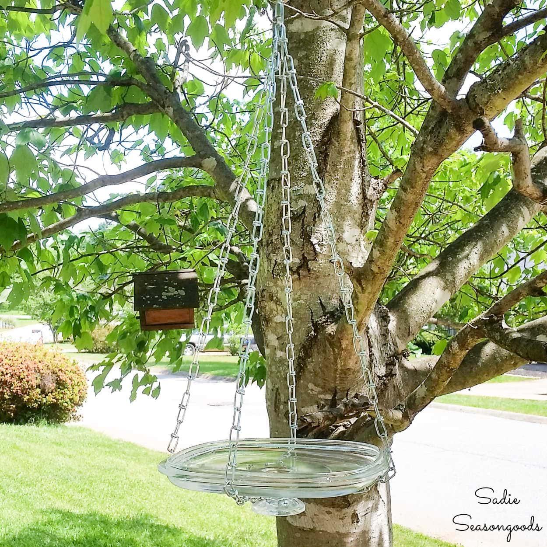 DIY Hanging Bird Bath