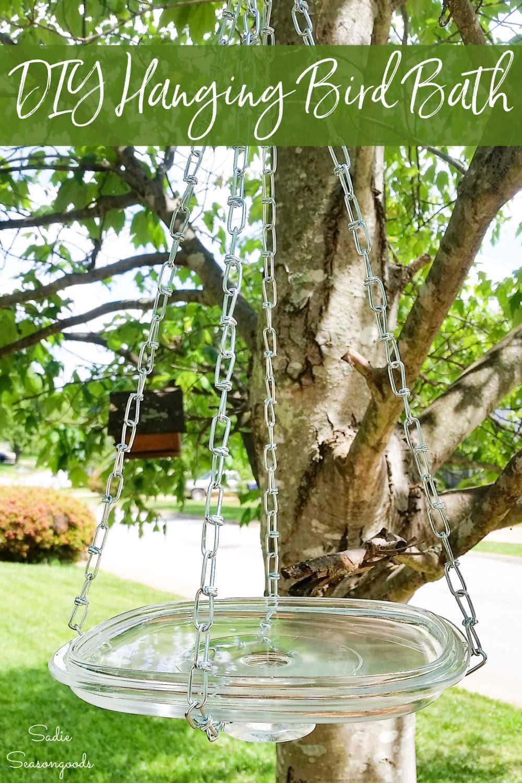 hanging bird waterer