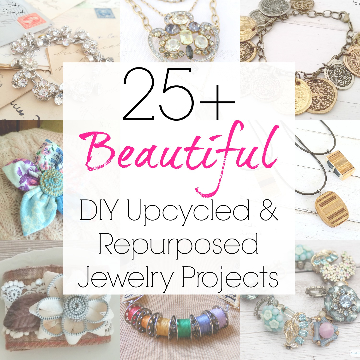 Custom jewelry and boho jewelry and handmade jewelry project ideas from upcycling and repurposing by Sadie Seasongoods / www.sadieseasongoods.com