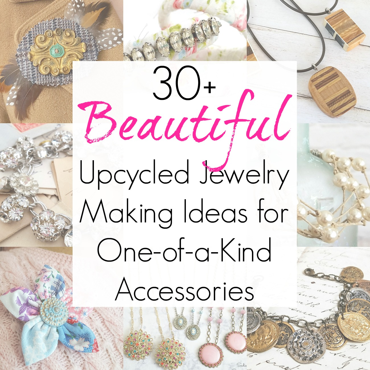 Upcycled Jewelry and Jewelry Making Ideas with broken jewelry and one of a kind jewelry
