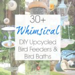 20 Upcycled Bird Feeders & Baths