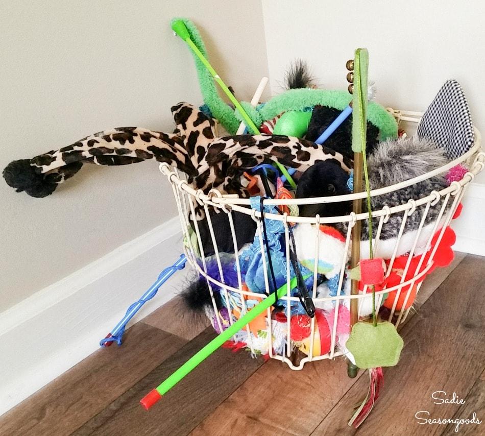 Cat toy basket