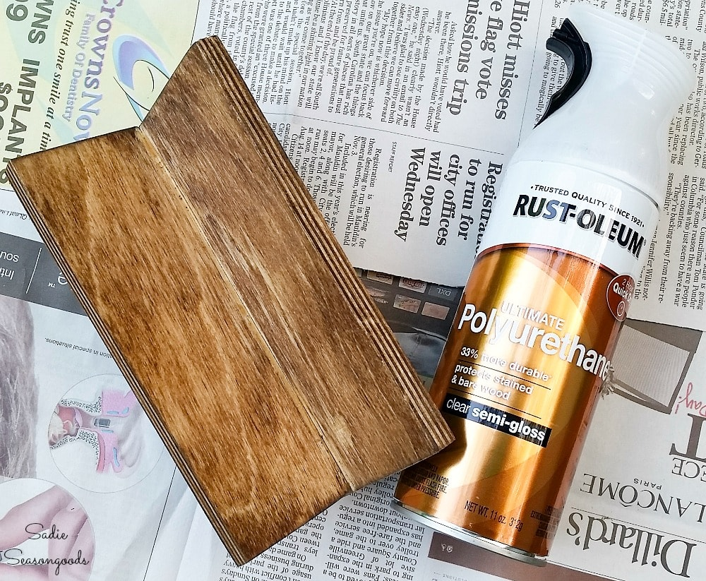Top coat over the wood stain