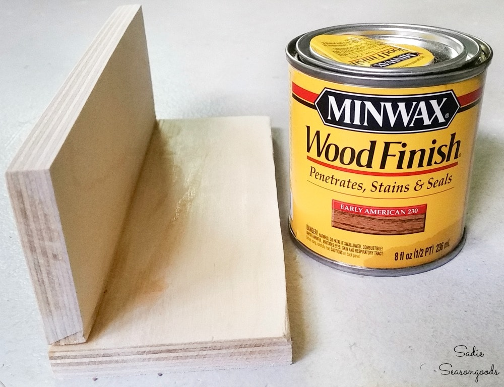 Wood stain to match an antique crate