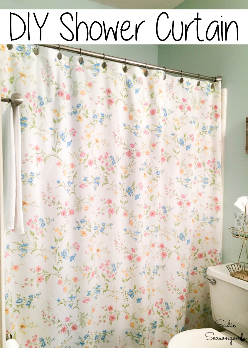 How to make a shower curtain for a cottage style bathroom
