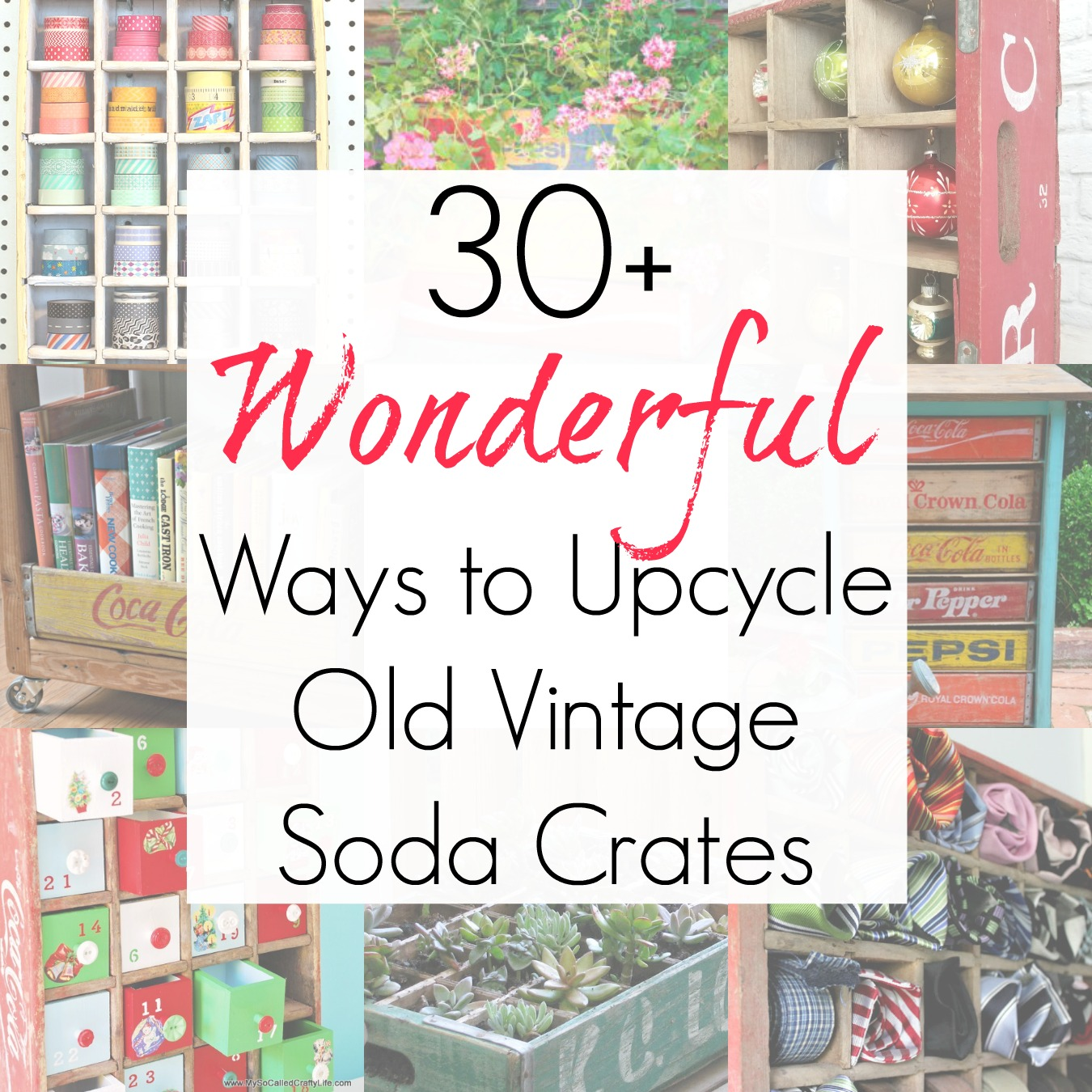 30+ Wooden Crate Ideas for Vintage Soda Crates