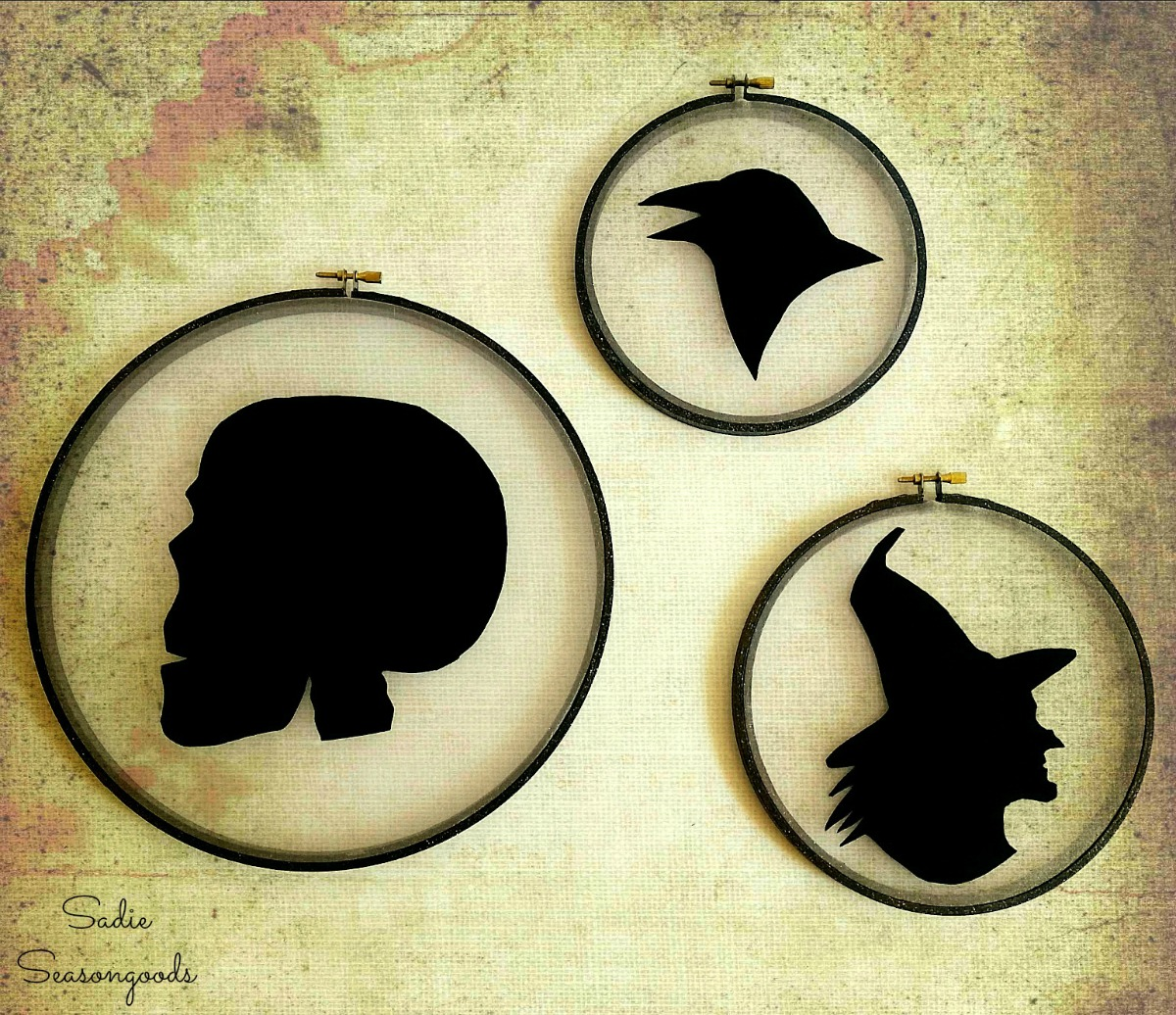 Halloween Silhouettes as Halloween Window Decorations