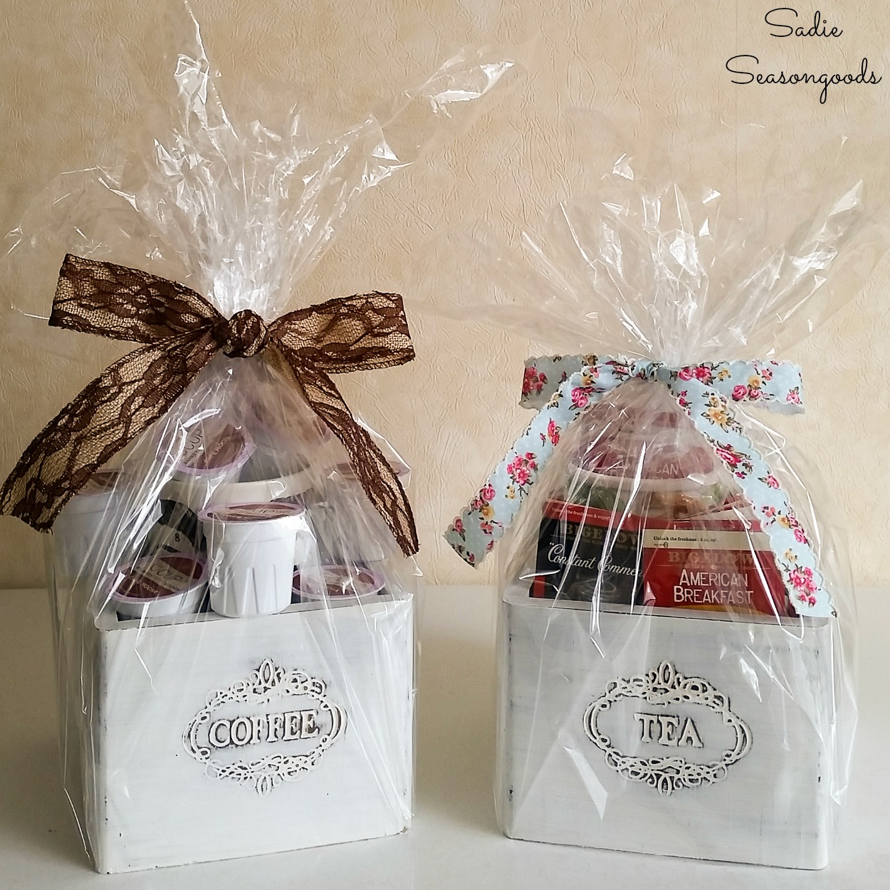 Tea and Coffee Canisters as Wooden Gift Boxes