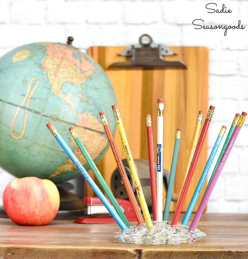 decorating with vintage school supplies