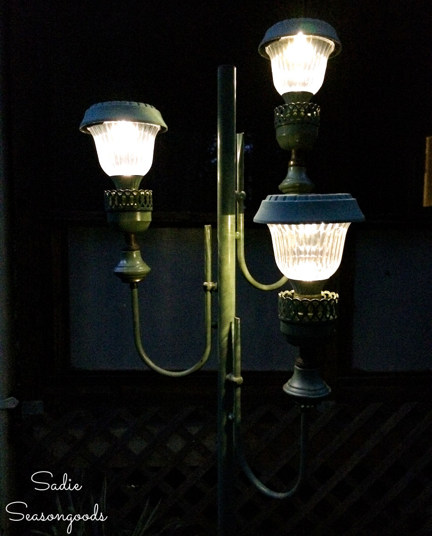 DIY project with solar path lights