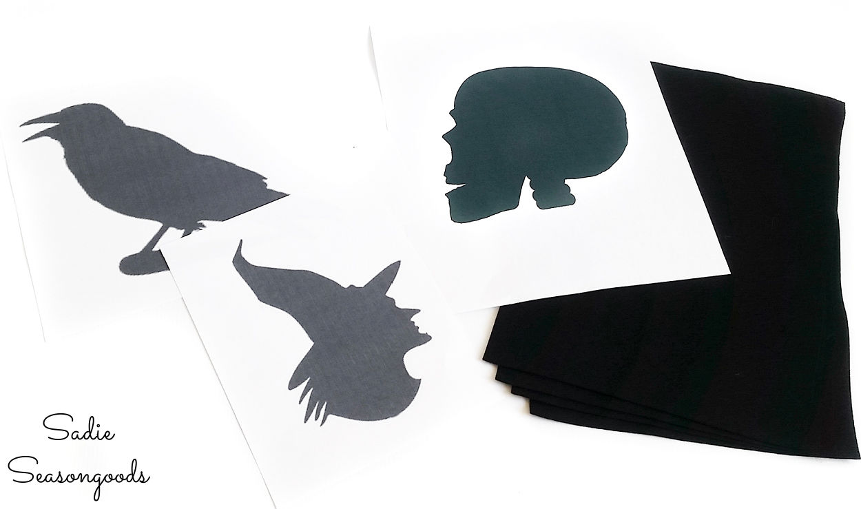 halloween silhouette ideas
