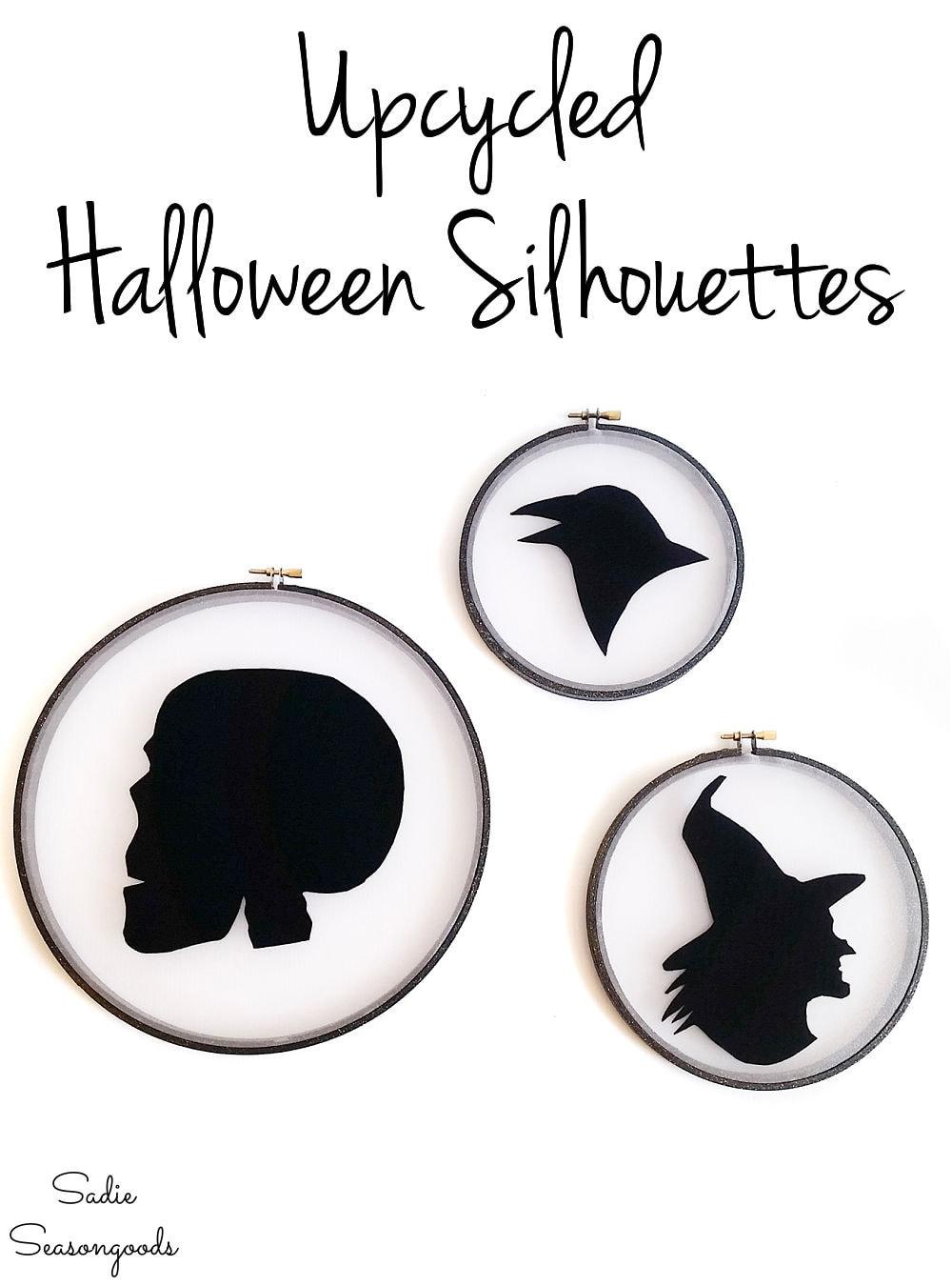 halloween window silhouettes