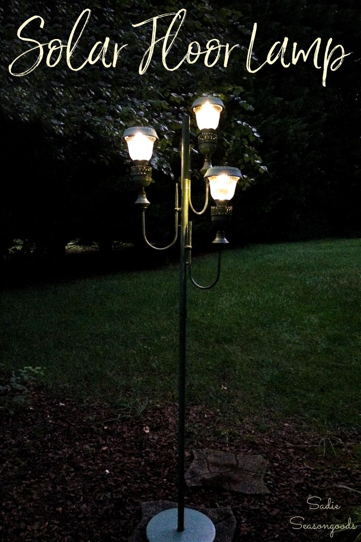 outdoor solar floor lamp