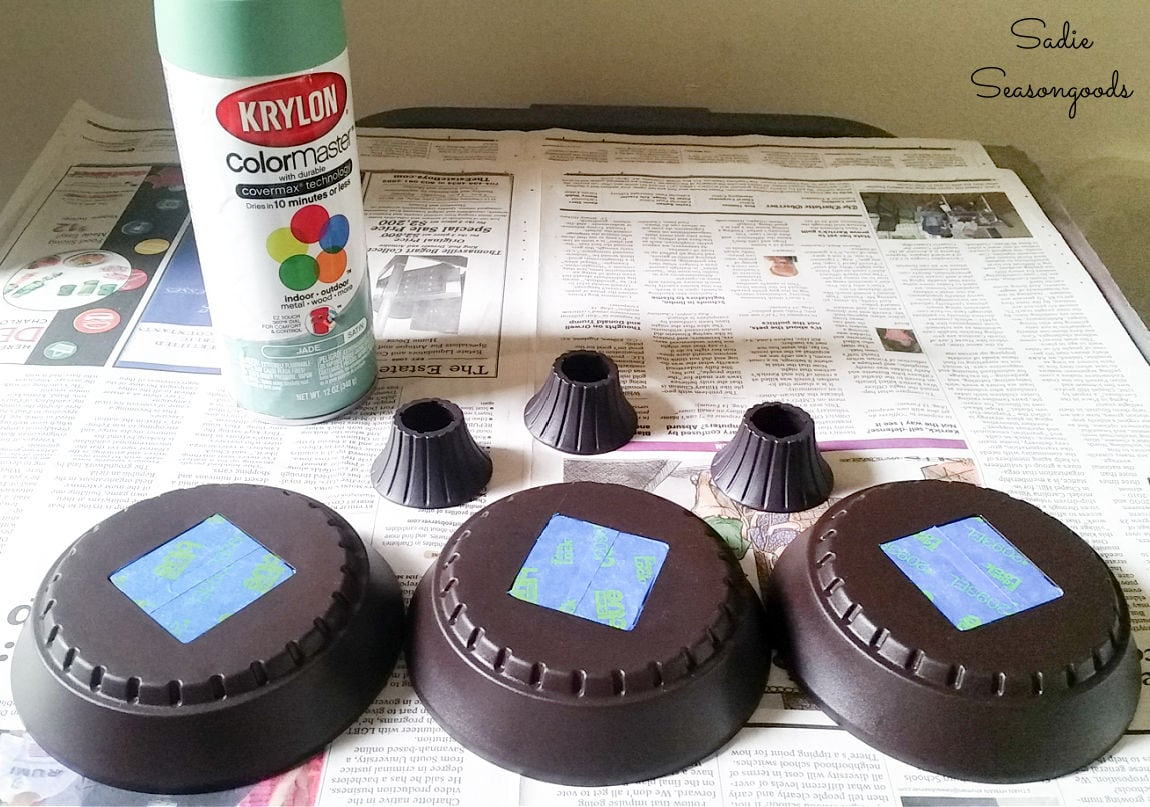 painting the solar path lights