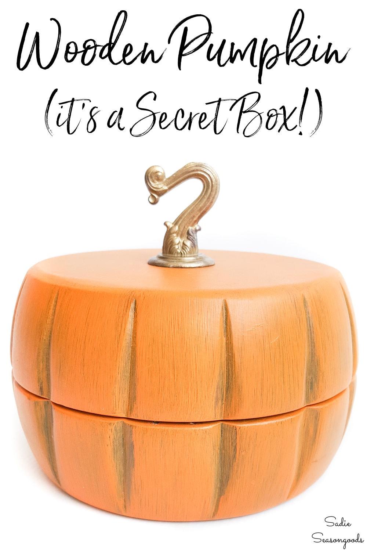 pumpkin box from vintage salad bowls