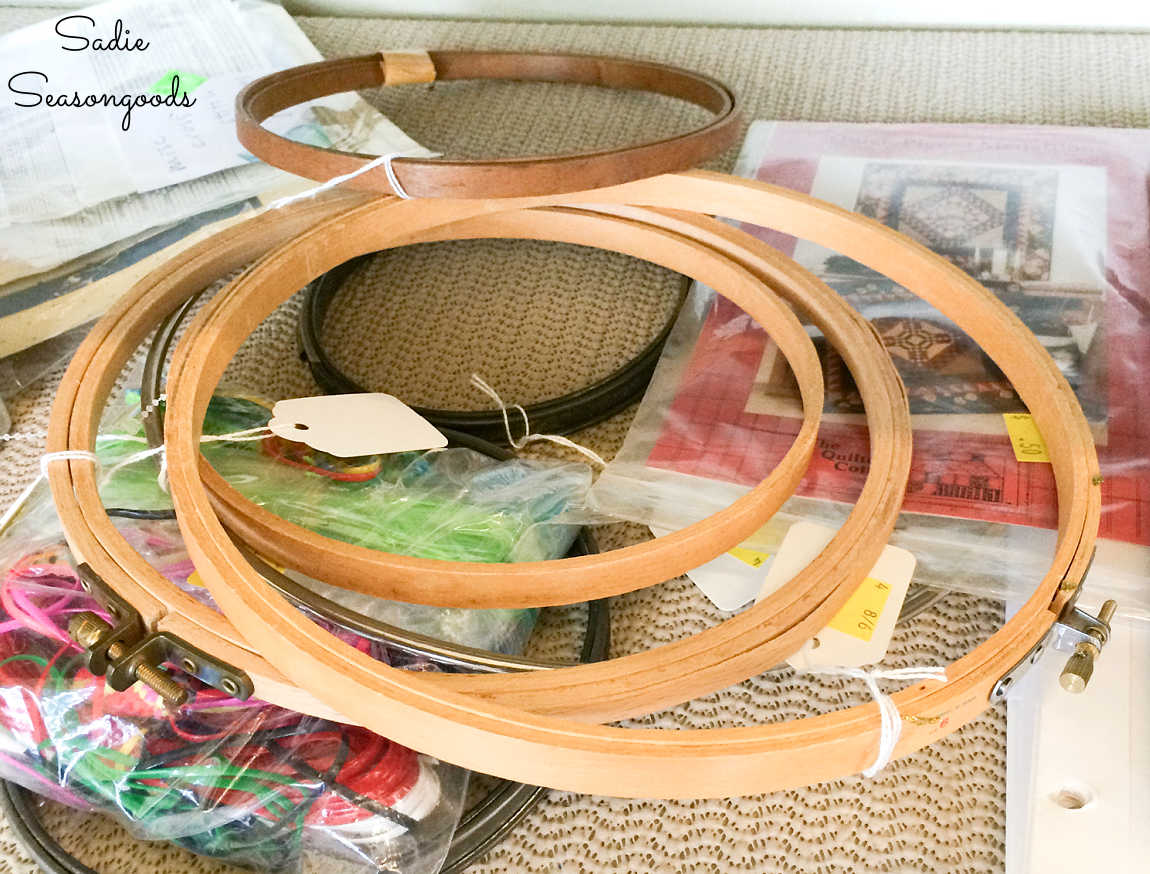 vintage embroidery hoops