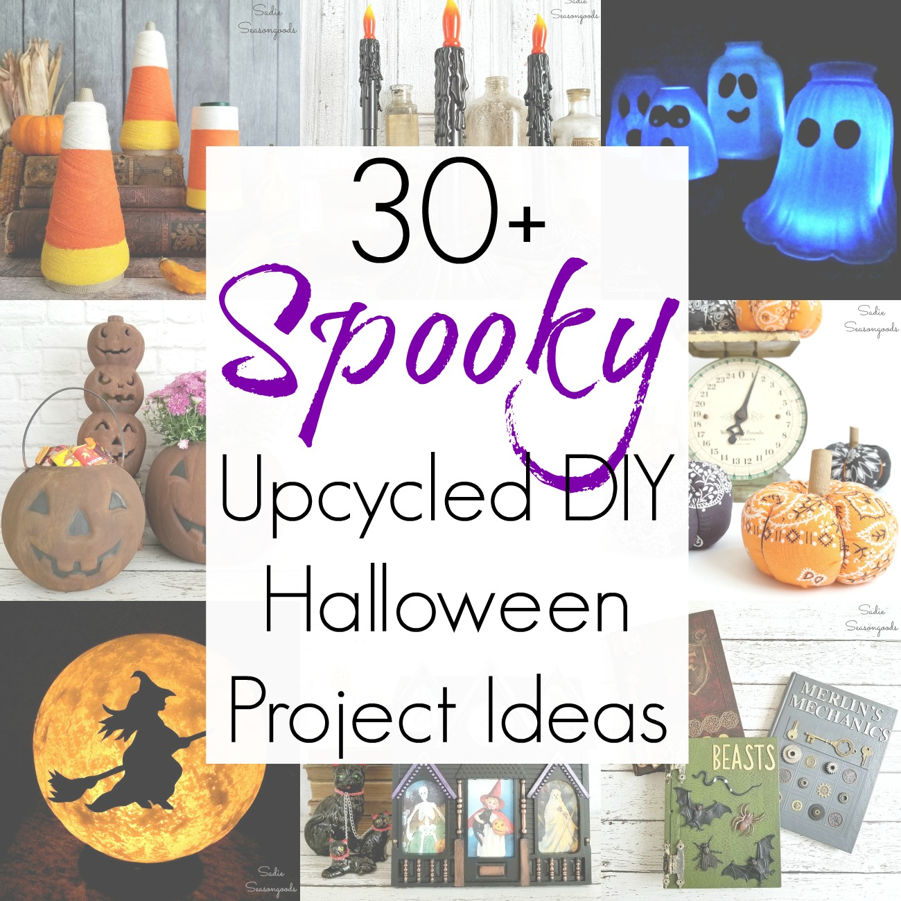 30+ Upcycling Ideas and Repurposed Projects for Halloween Decor