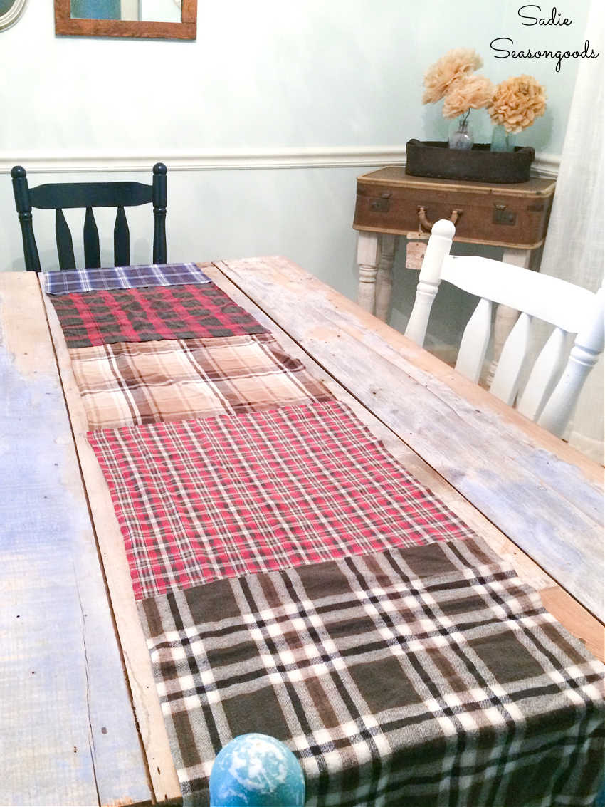 making a rustic table runner