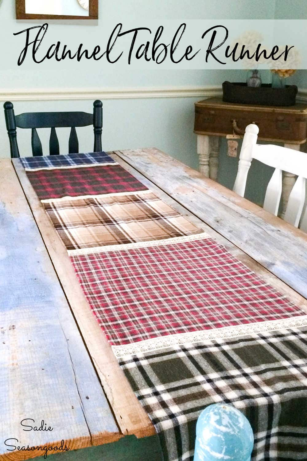 plaid table runner from fall flannels