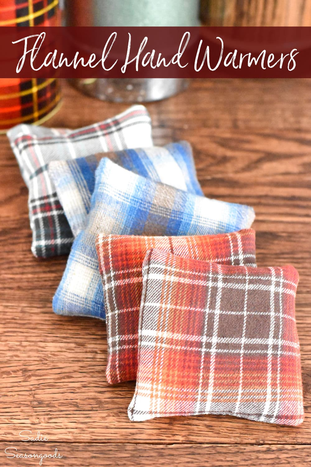 DIY hand warmers from flannel shirts