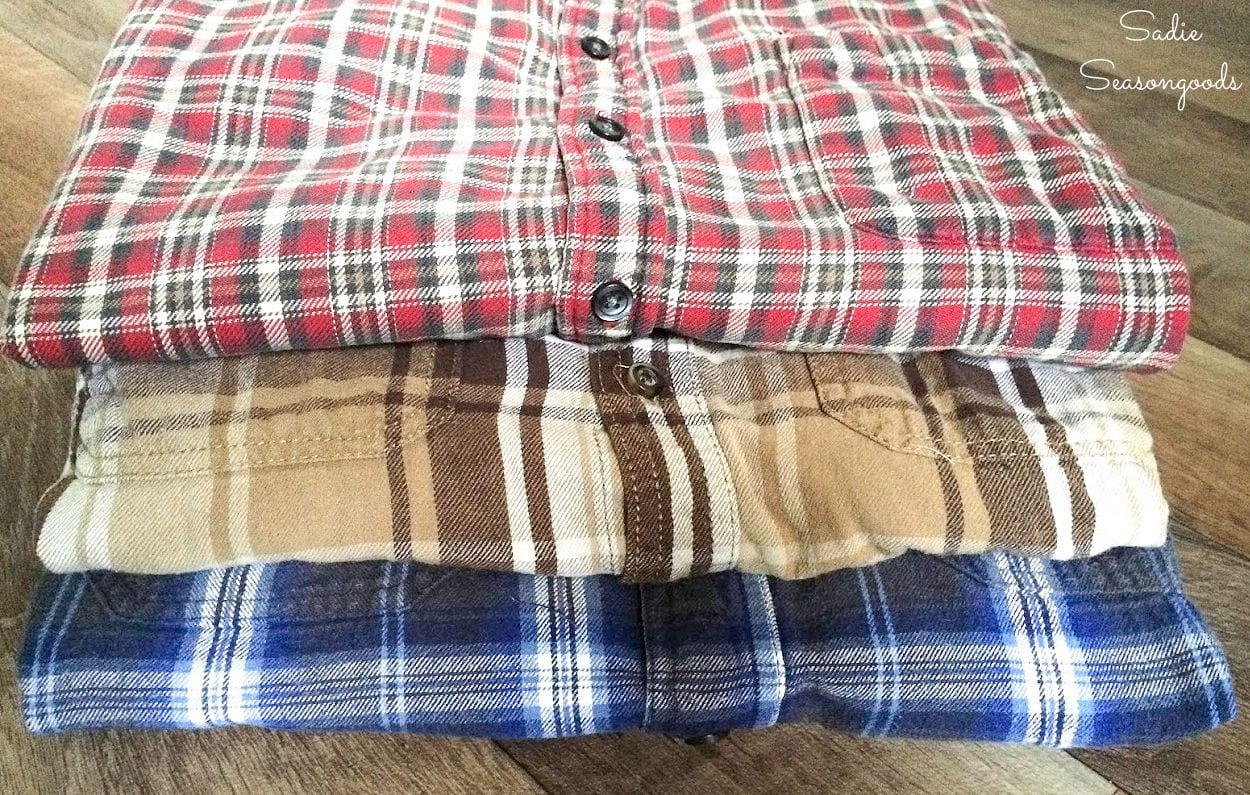 Flannel shirts for easy upcycling ideas