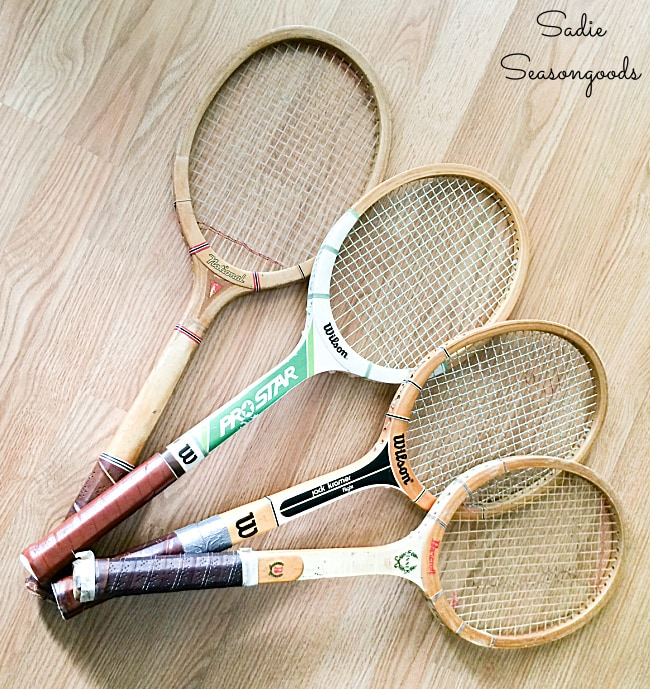 Wooden tennis racket for craft projects