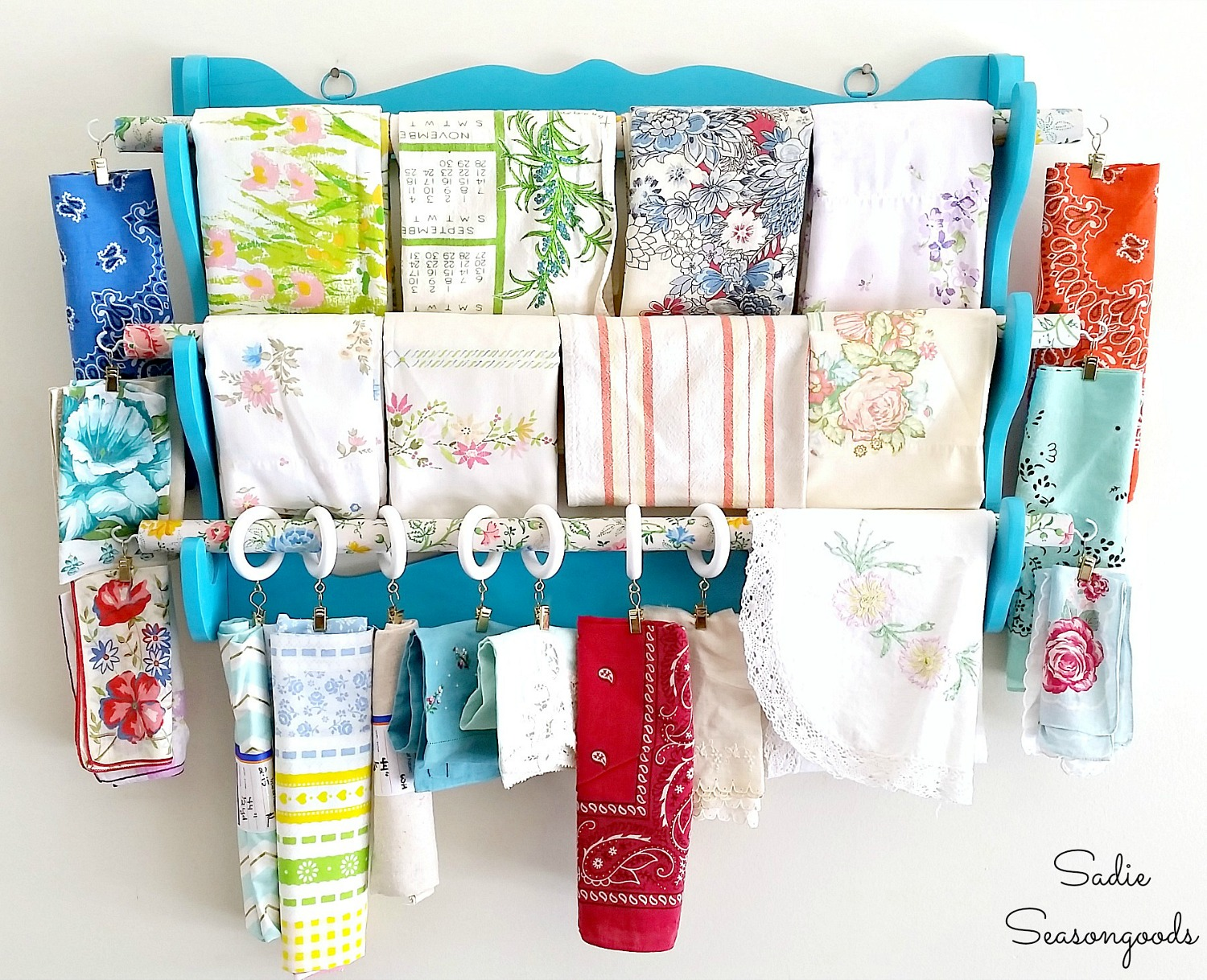Organizing A Sewing Room with a Fabric Organizer for Scrap Fabric
