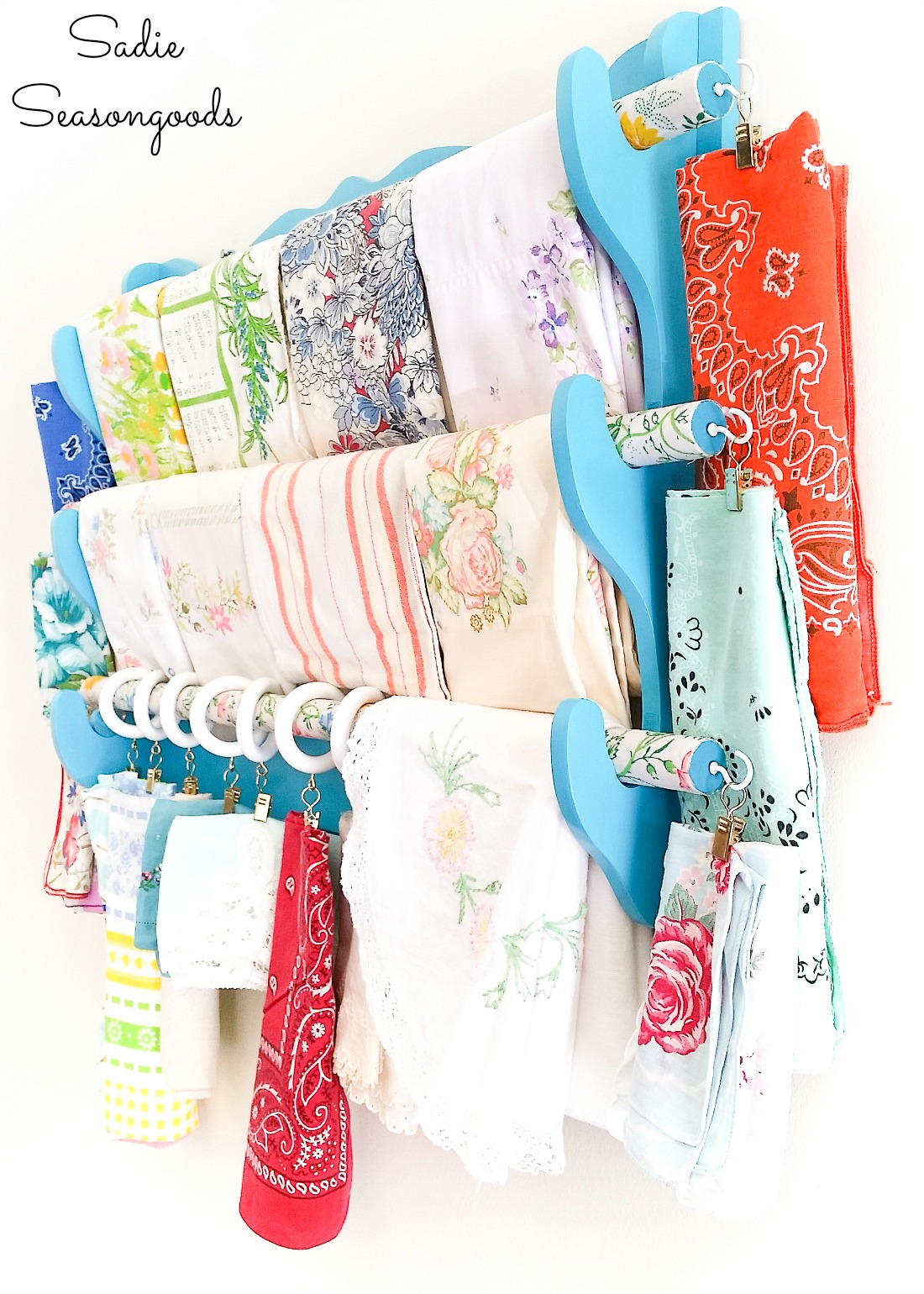Sewing organizer and sewing room storage ideas