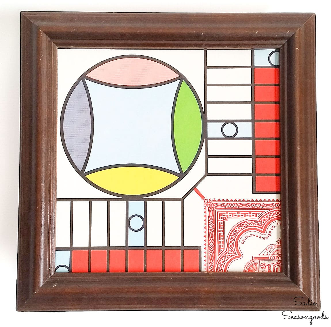play room decor from a parcheesi board