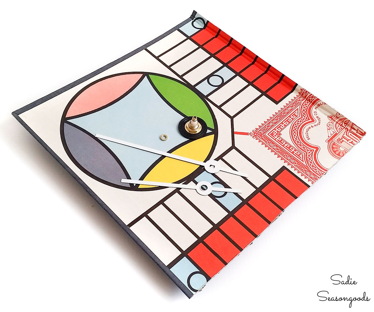 upcycling a parcheesi board for play room decor