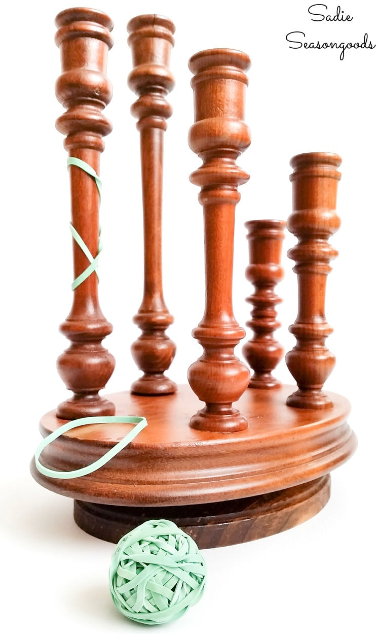 upcycling a wooden candelabra