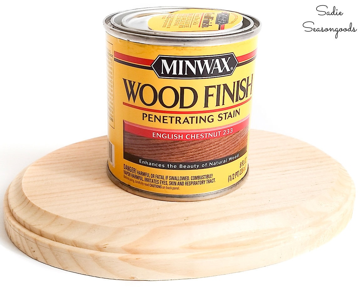 wood stain for base of lazy susan