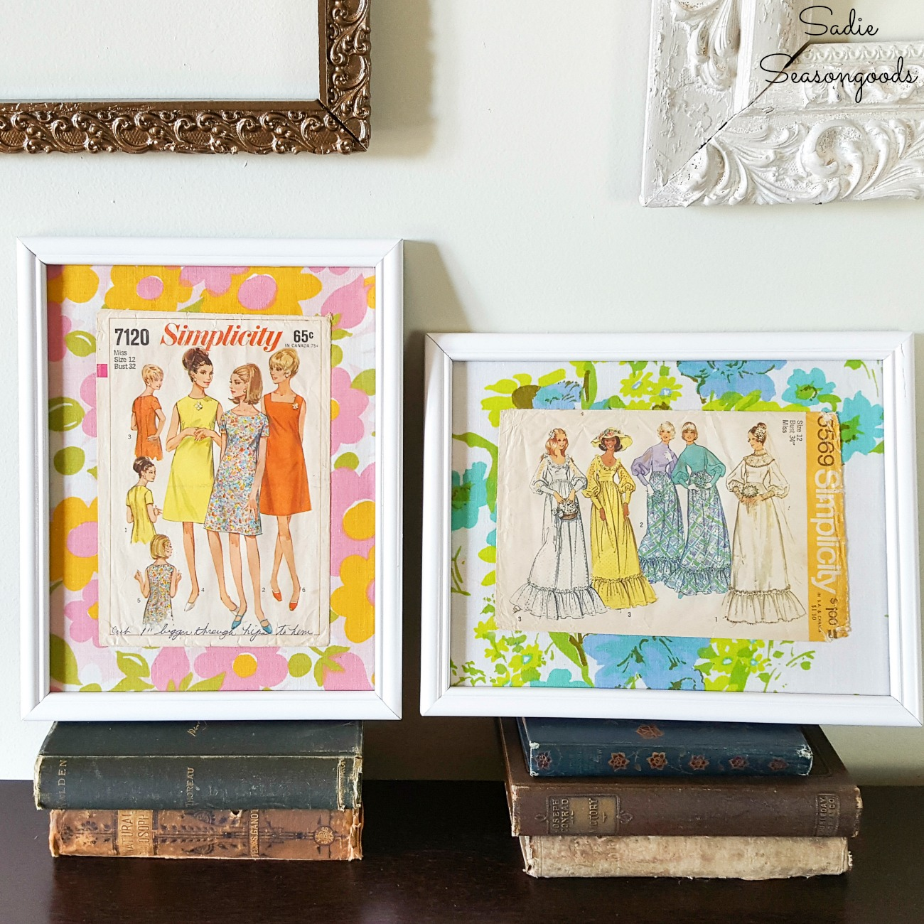 Fashion Wall Art with Vintage Sewing Patterns