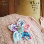 Using Feed Sack Fabric or Grain Sack Fabric to Make a Lapel Flower