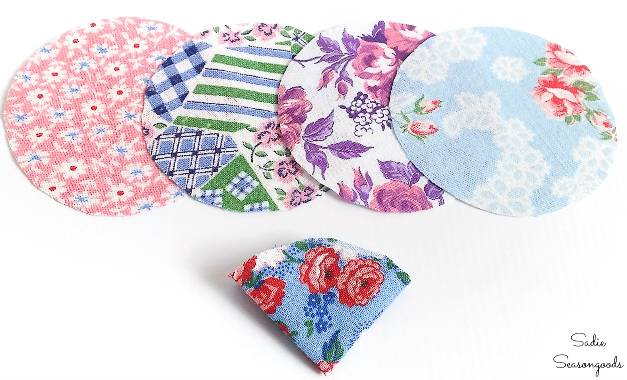 How to make fabric flowers to use as a lapel flower