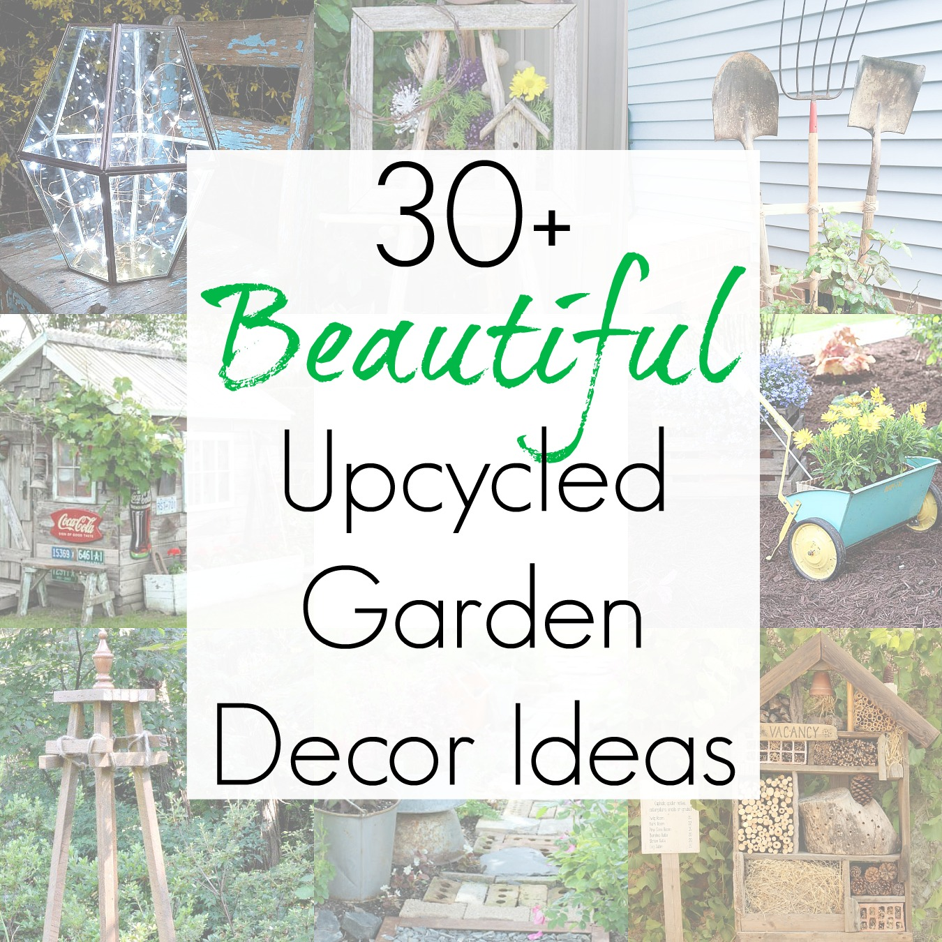 30+ Quirky Garden Ideas and Upcycling Projects for Garden Decor