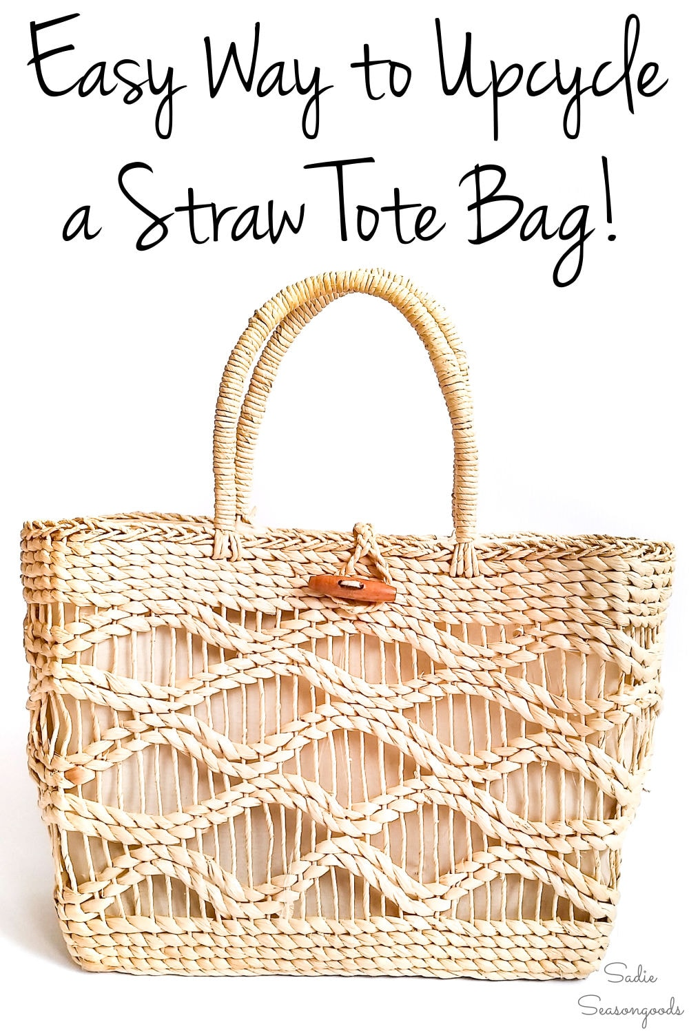Easy upcycling idea for a tote bag