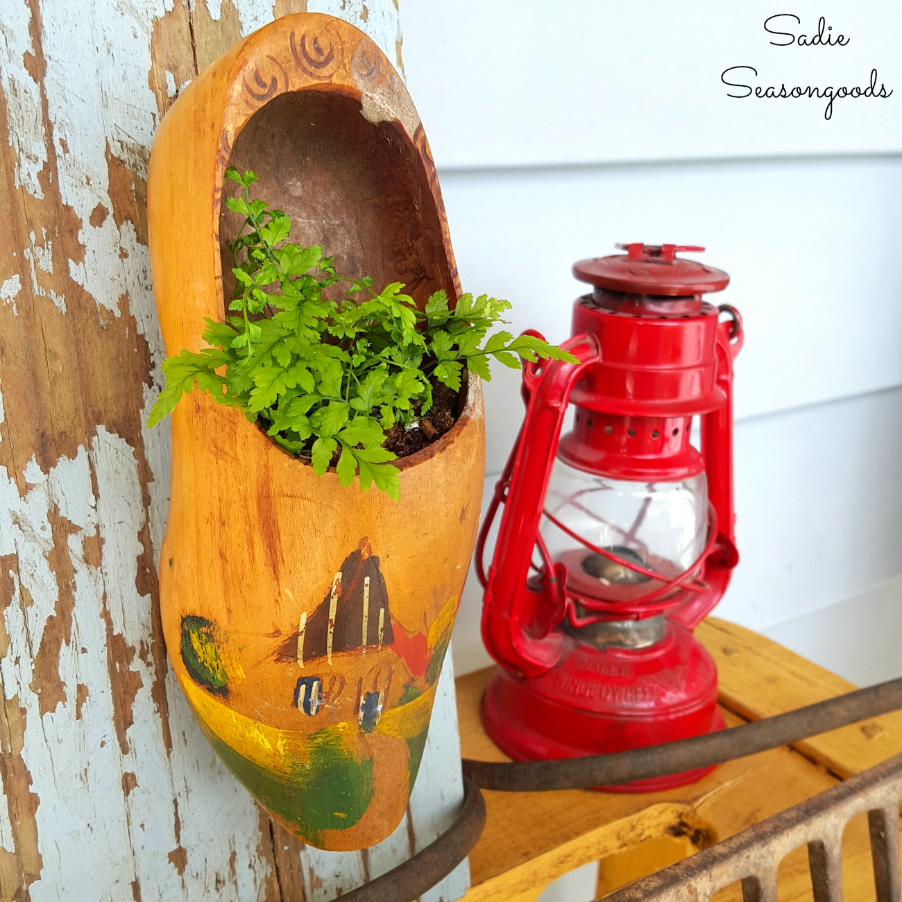 Unique Planters or Wall Planters from Dutch Wooden Shoes