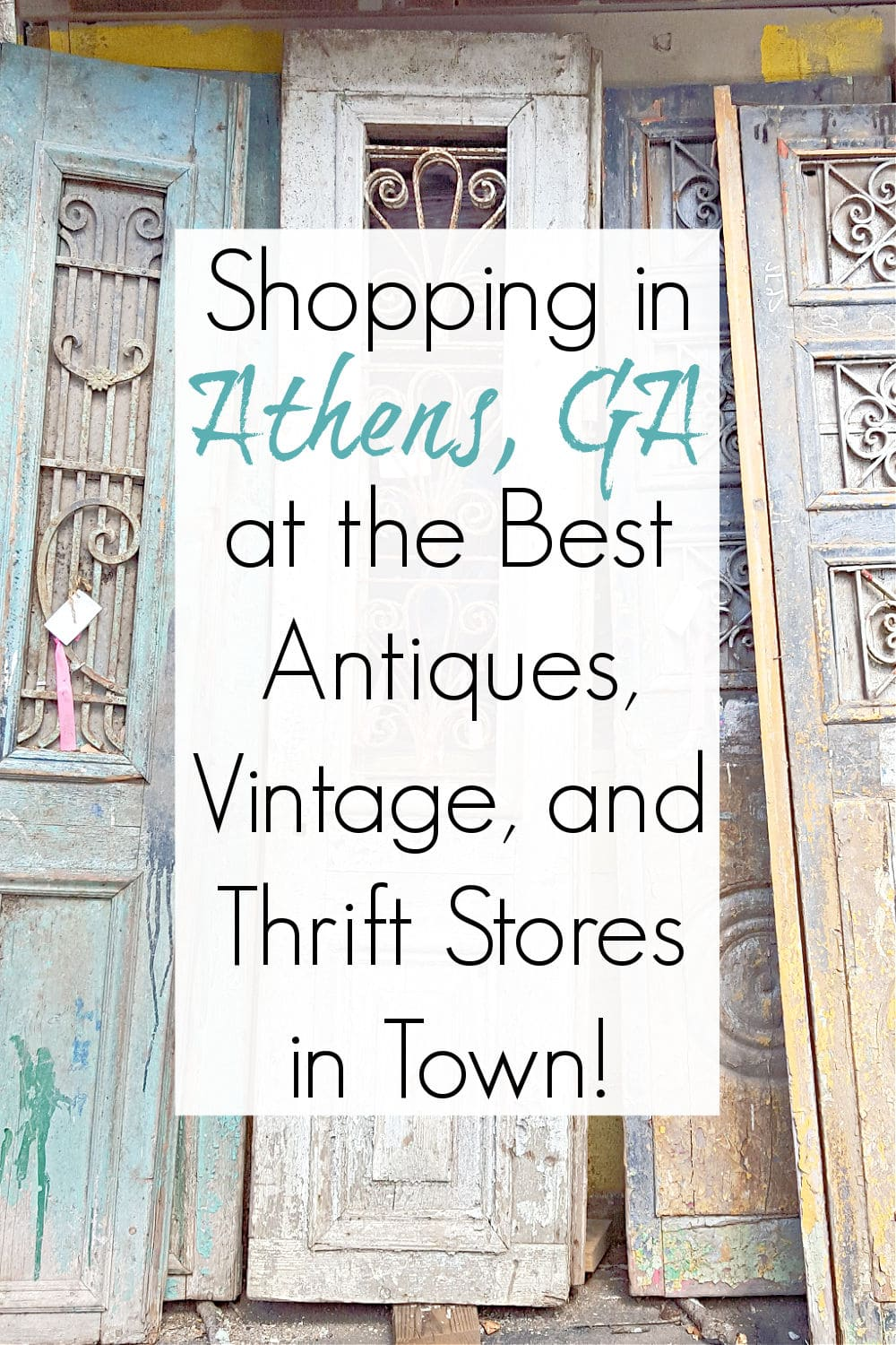 antiques and thrift stores in athens ga