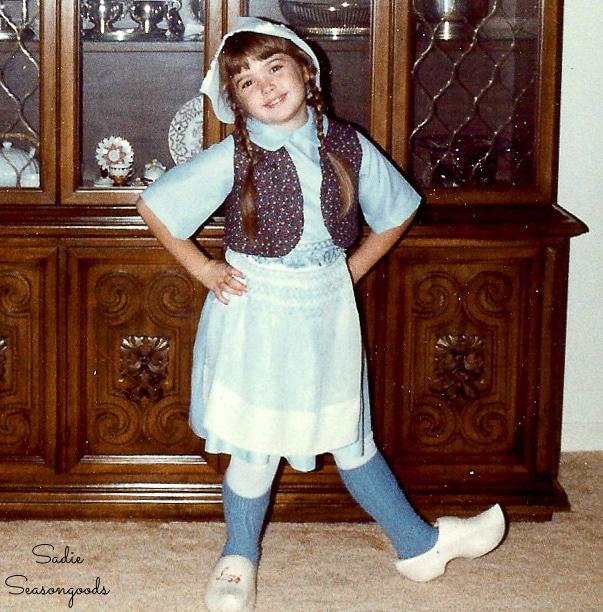Sarah Ramberg in a Dutch costume