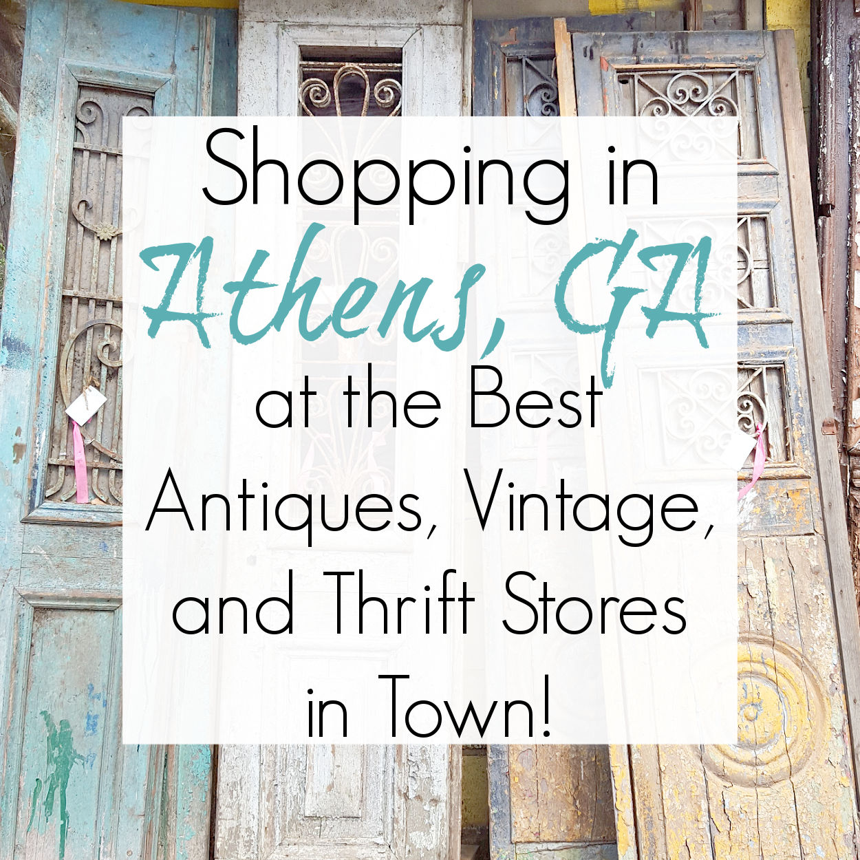 Antiques and Thrift Stores in Athens, GA