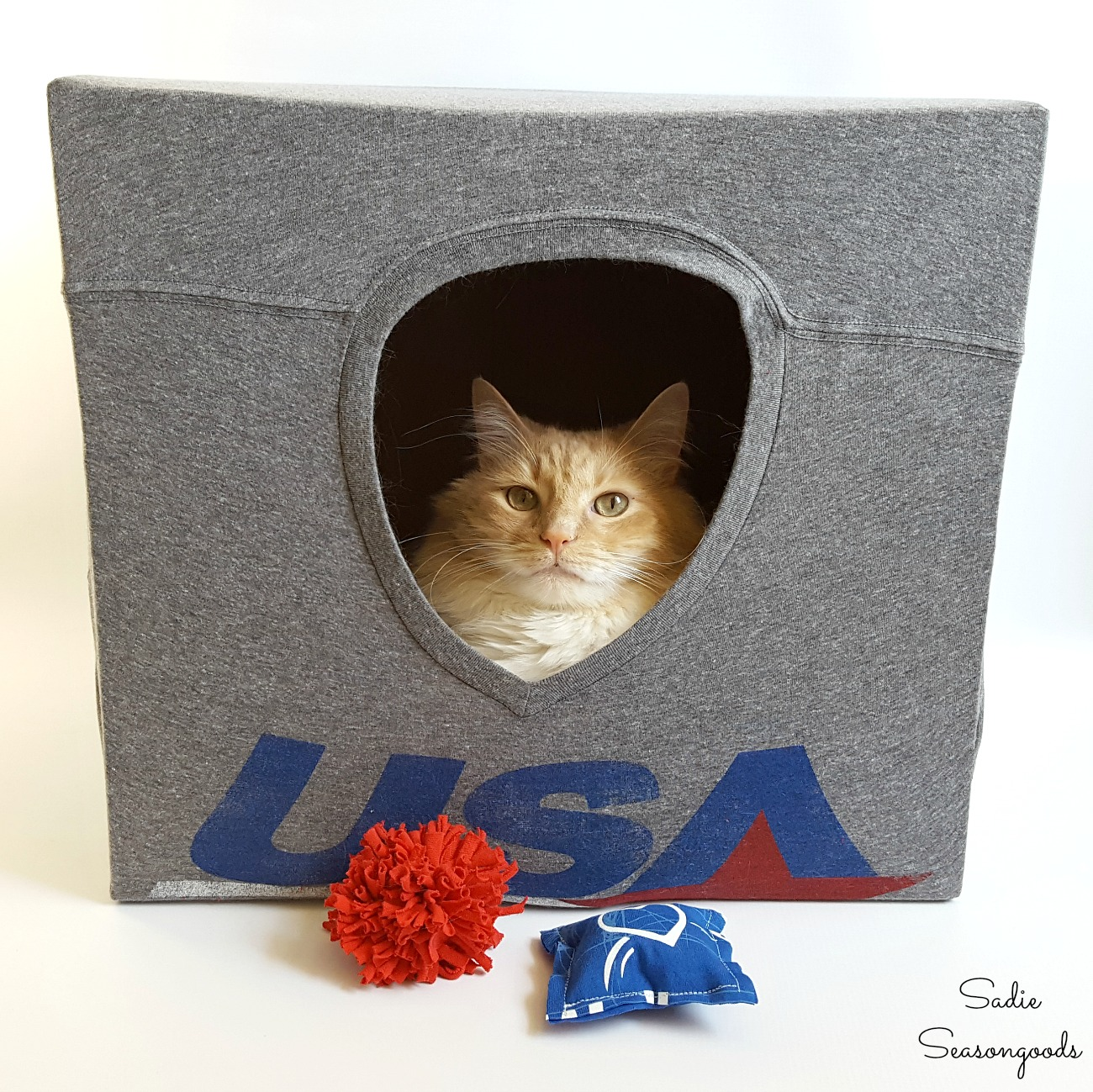 Diy T Shirt Cat Cave And Easy To Make Upcycled Pet Toys