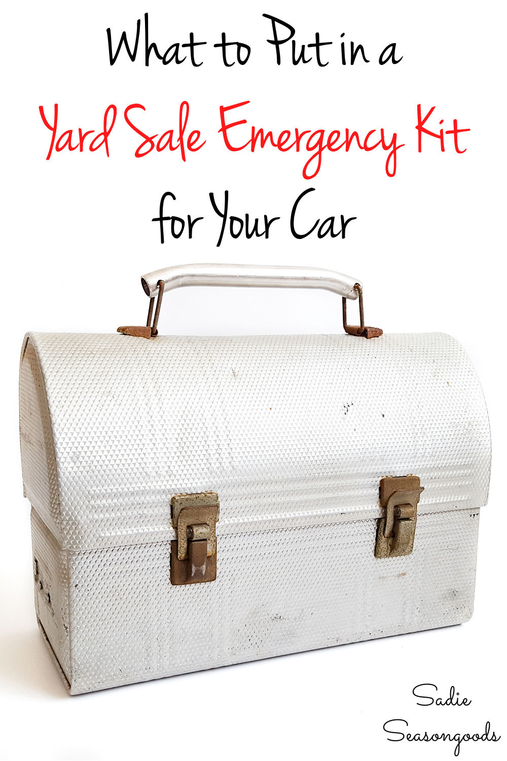 car emergency kit list for garage saling