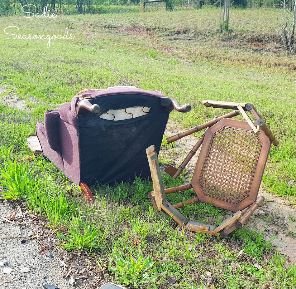furniture on the side of the road