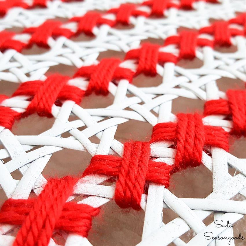 yarn cross stitch