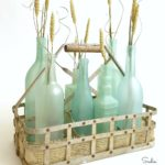 Wine Bottle Crafts - Beach Glass or Sea Glass Bottles for Coastal Decor